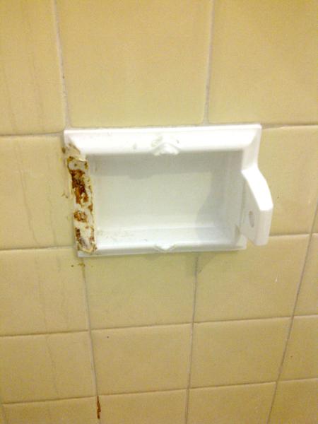 Broken Ceramic Toilet Paper Holder Built In General
